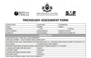 Trichology Assessment Form